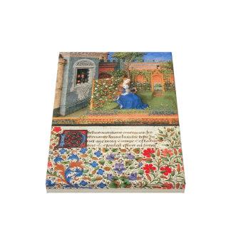 Amelia in the rosegarden canvas print