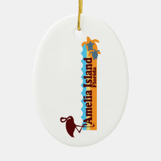 Amelia Island - Beach Design. Ceramic Ornament