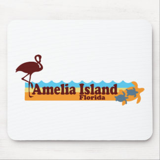 Amelia Island - Beach Design. Mouse Pad
