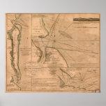Amelia Island, Florida 1770 map Posters