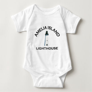 Amelia Island - Lighthouse Design. Baby Bodysuit