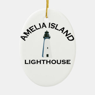 Amelia Island - Lighthouse Design. Ceramic Ornament