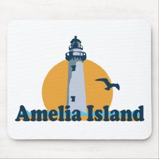Amelia Island - Lighthouse Design. Mouse Pad