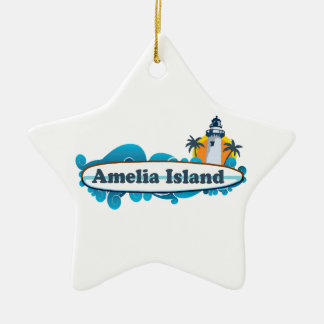 Amelia Island - Surf. Ceramic Ornament
