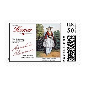 Amelia Jenks Bloomer USPS Postage Stamps