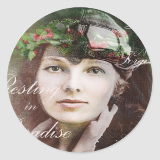 Amelia Lost In Paradise Classic Round Sticker