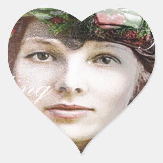 Amelia Lost In Paradise Heart Sticker