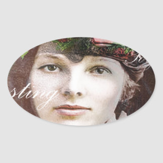 Amelia Lost In Paradise Oval Sticker