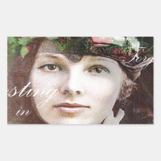 Amelia Lost In Paradise Rectangular Sticker