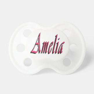 Amelia, Name, Logo, Babys 0-6 months Pacifier