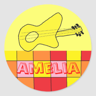 Amelia name stickers