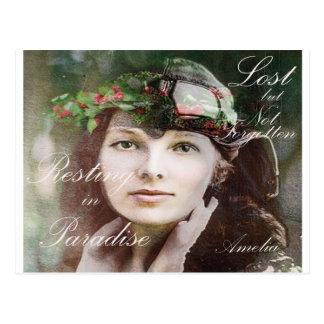 Amelia perdió en paraíso postales