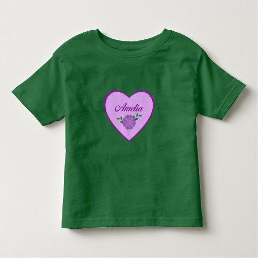 Amelia (purple heart) t shirt