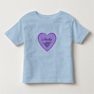 Amelia (purple heart) tshirt