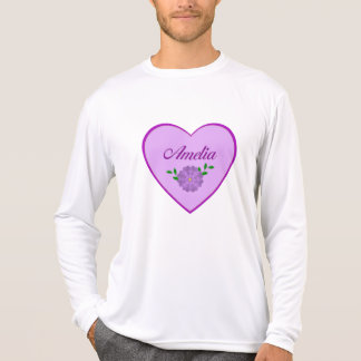 Amelia (purple heart) tshirts