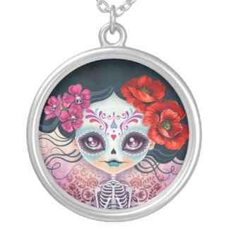 Amelia Sugar Skull Day of the Dead Necklace