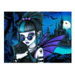 Amelia Vampire Twixt Werekitty Castle Postcard