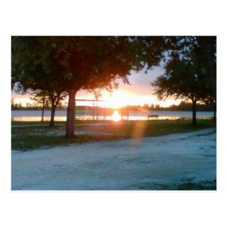 Amelian Earhart Park at Sunset Postcard