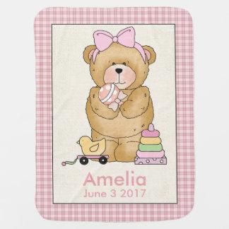 Amelia's Personalized Baby Bear Blanket