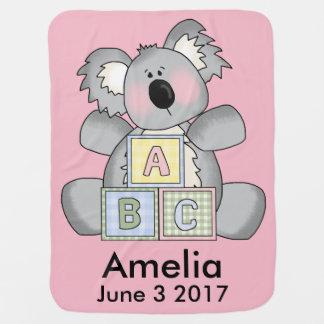 Amelia's Personalized Koala Stroller Blanket