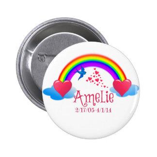 Amelie 2 Inch Round Button