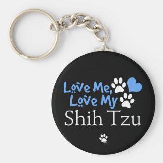 Ámeme, ame a mi Shih Tzu Llavero Personalizado