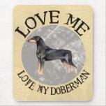 Ámeme, ame mi Doberman Tapete De Ratones