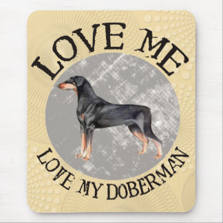 Ámeme, ame mi Doberman Mousepads