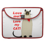 ¿Ámeme? Ame mi gato siamés del gato Fundas Para Macbooks