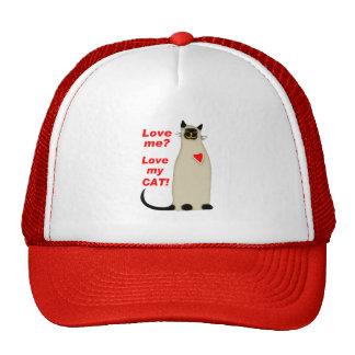 ¿Ámeme? Ame mi gato siamés del gato Gorro