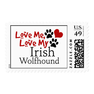 Ámeme, ame mi Wolfhound irlandés Sello