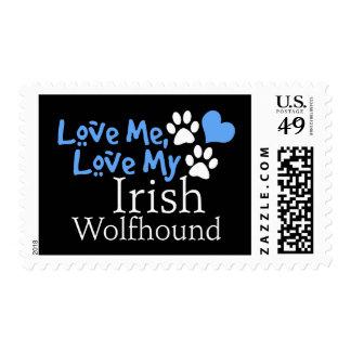 Ámeme, ame mi Wolfhound irlandés Franqueo