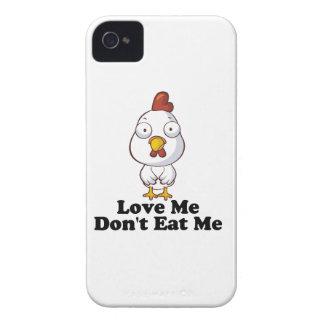 Ámeme no me comen caso del iPhone del pollo iPhone 4 Case-Mate Coberturas