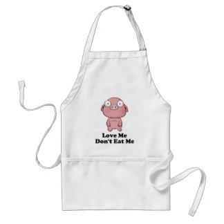 Ámeme no me comen diseño del cerdo delantal