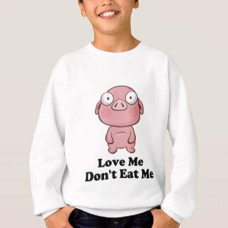 Ámeme no me comen diseño del cerdo sudadera