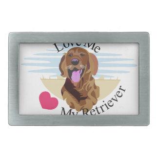 Ámeme perro perdiguero hebilla cinturón rectangular