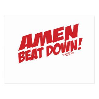 AMEN Beatdown R Postcard