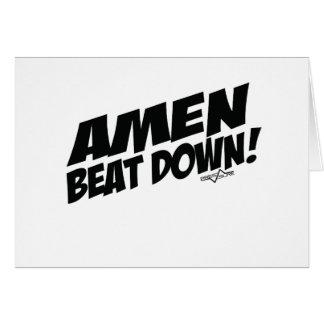 AMEN Beatdown Tarjeta De Felicitación