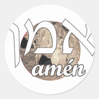 Amen Classic Round Sticker