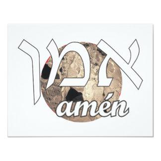 Amen 4.25x5.5 Paper Invitation Card