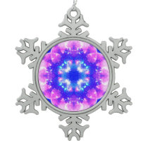 Amen Jin's Manifestation Shaping Reality Desires.j Snowflake Pewter Christmas Ornament