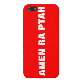 AMEN RA PTAH'S RED TAG IPHONE 5 CASE