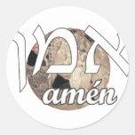 Amen Round Sticker
