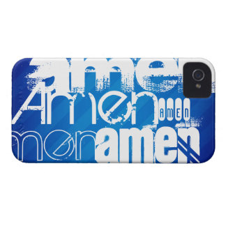 Amen; Royal Blue Stripes iPhone 4 Covers