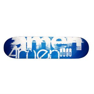 Amen; Royal Blue Stripes Skate Deck