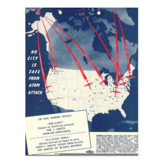 Amenaza atómica rusa tarjetas postales
