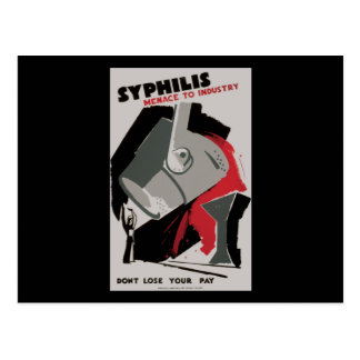 Amenaza de la sífilis a la industria postales