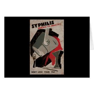 Amenaza de la sífilis a la industria tarjeta de felicitación