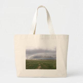 Amenaza de la tormenta bolsas lienzo