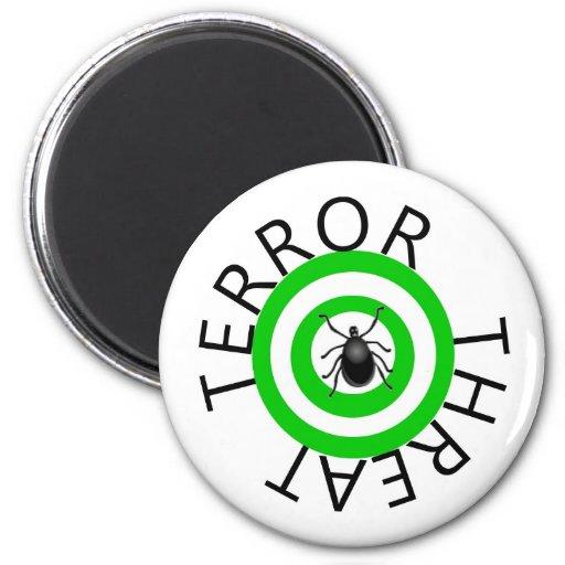 Amenaza del terror imán redondo 5 cm